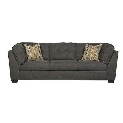 Superieur Ashley Benchcraft Delta City Contemporary Steel Grey Microfiber Sofa