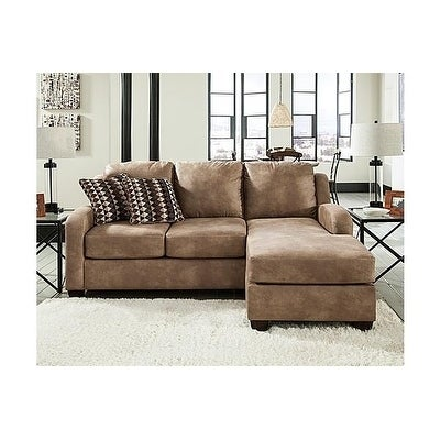 Benchmark By Ashely Benchcraft Alturo Dune Tan Faux Leather Chaise Sofa