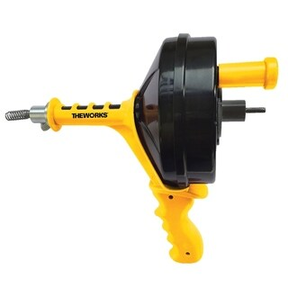 THEWORKS 1/4 in. x 25 ft. Power Drain Auger - Black/YELLOW