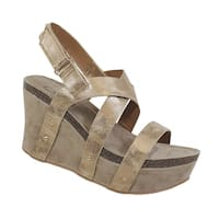 YOKI-HESTRY-32 women's crisscross strap footbed wedge