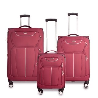 Gabbiano Avon Collection 3-Piece Softside Spinner Luggage Set