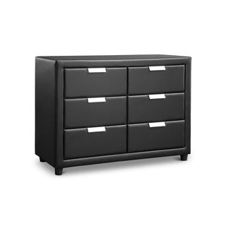 Urban Designs Pageant Faux Leather Upholstered Dresser