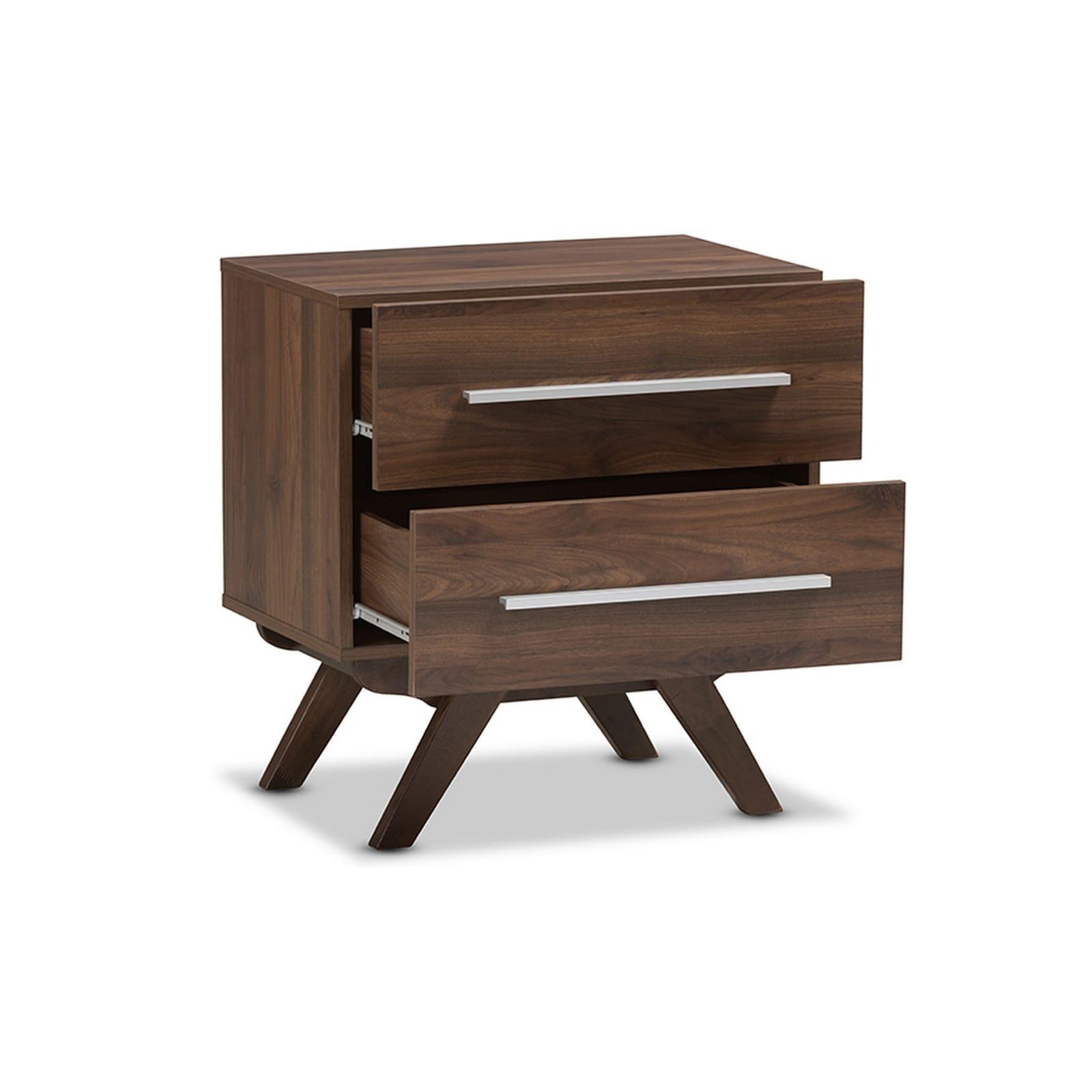 Night Stand Designs : Urban designs auburn mid century walnut brown finished wood
