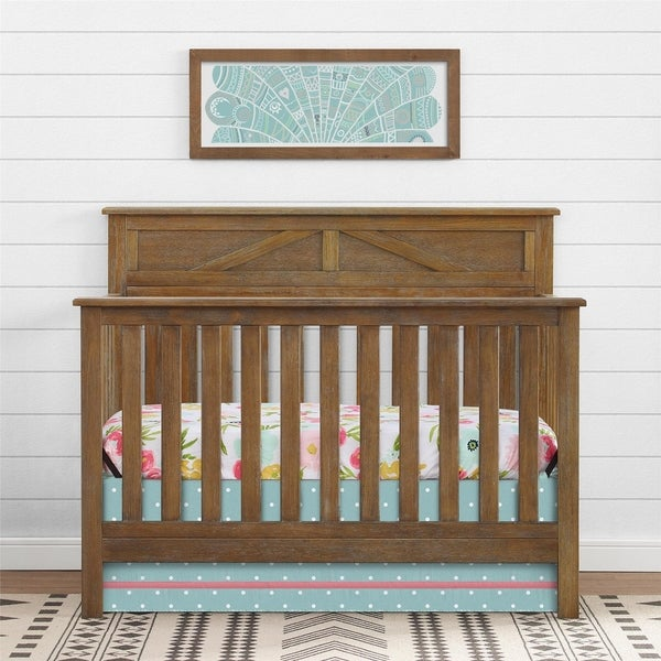 Shop Avenue Greene Nassau Rustic Coffee 5 In 1 Convertible Crib