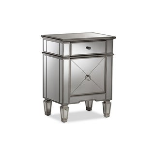 Urban Designs Hollywood Regency Glamour Style Mirrored Nightstand