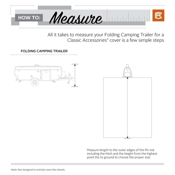 Classic Accessories PermaPro RV Cover for 8-10 Long Folding Camping Trailers