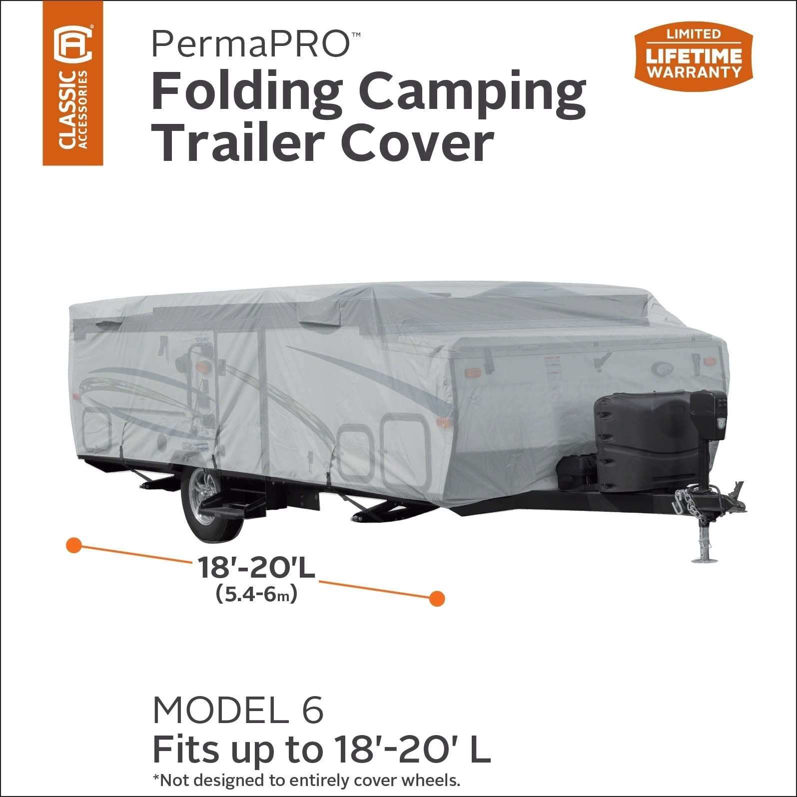 Fits 8-10 Trailers Classic Accessories OverDrive PolyPro 1 Folding Camping Trailer Cover