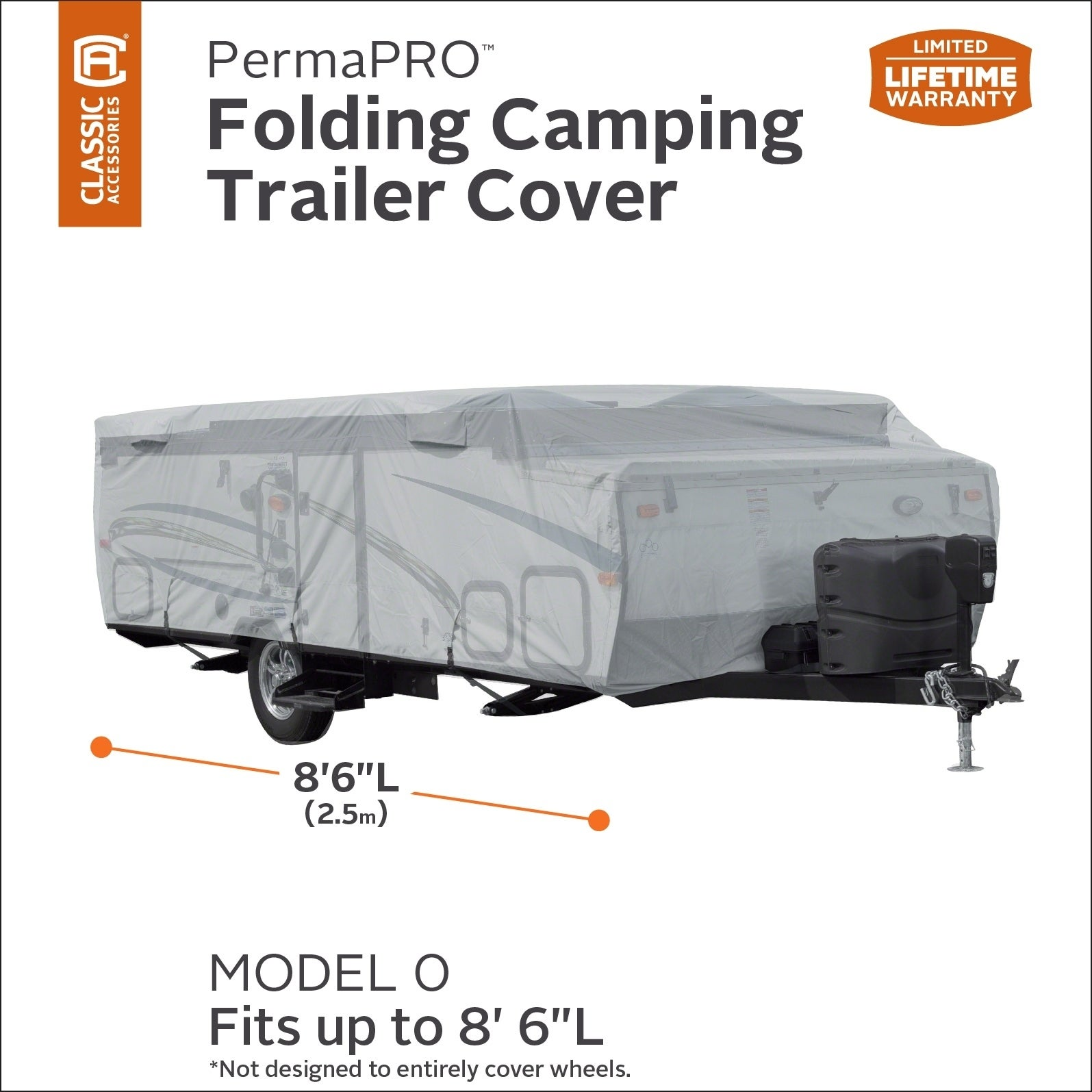 Fits 14-16 Trailers Classic Accessories OverDrive PolyPro 1 Folding Camping Trailer Cover