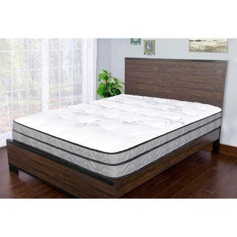 Sleep Therapy Dual Support Euro-top and Pocketed Coil Mattress, Twin