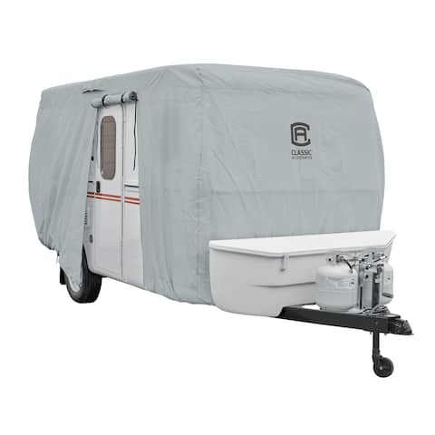 "Classic Accessories OverDrive PermaPRO Deluxe Molded Fiberglass Travel Trailer Cover, Fits up to 10'1""-13' long RVs"