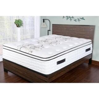 Sleep Therapy Premium Gel & Convoluted Memory Foam Pillow-Top Mattress, Full