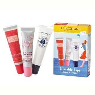L'Occitane Kissable Lips 3-piece Set