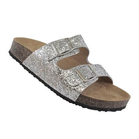 YOKI-GIAN-94 women's glittery slip on sandal
