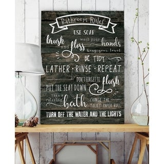 Bathroom Rules - Premium Gallery Wrapped Canvas