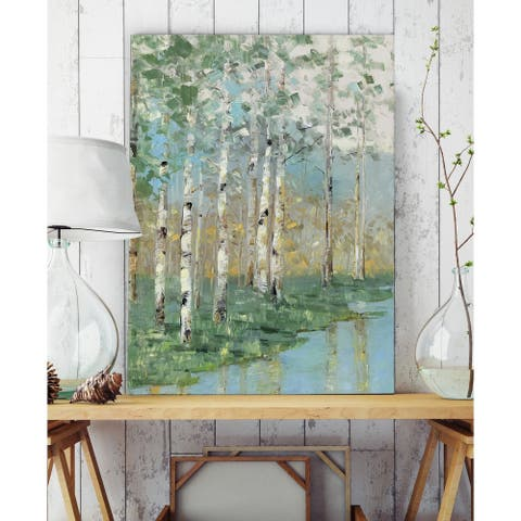 Birch Reflections I - Premium Gallery Wrapped Canvas