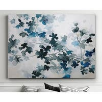 Blue Cherry Blossoms - Premium Gallery Wrapped Canvas