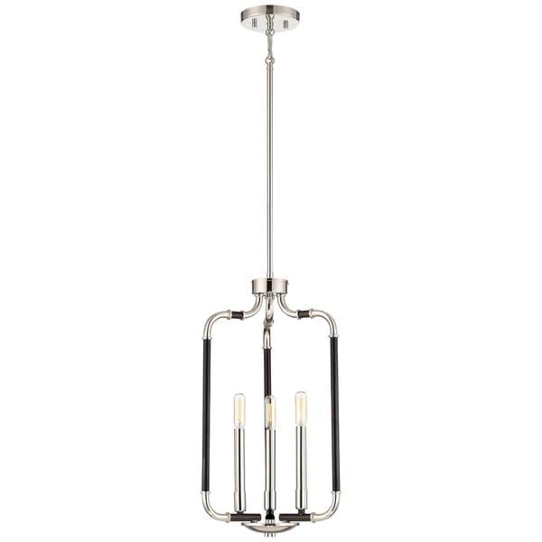 Minka Lavery Liege Matte Black with Polished Nickel Metal 5-light Bathroom Pendant