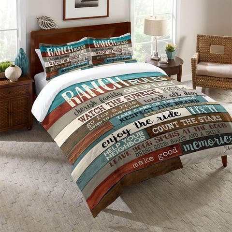 Laural Home Rules on the Ranch Comforter