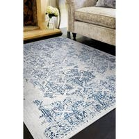 "Allure Ipswich Blue/Ivory Area Rug - 9'2"" x 12'5"""