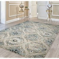 Couristan Ciré Cherrington Greige-Antique Cream Area Rug - 7'10 x 11'2