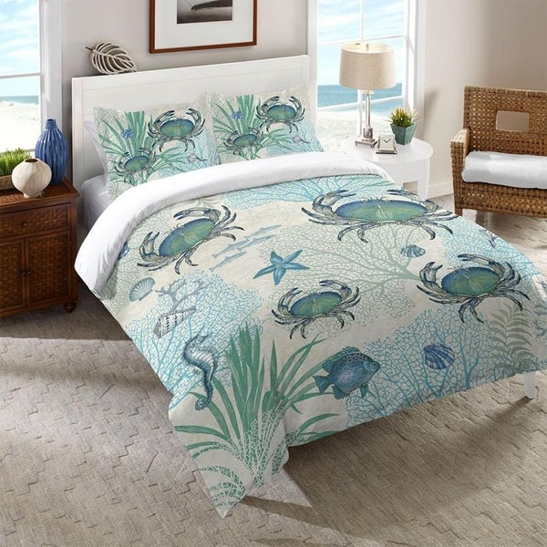 Laural Home Blue Creature of the Sea Comforter