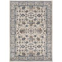 "Couristan Monarch Kerman Vase Antique Cream-Slate Area Rug - 7'10"" x 11'2"""