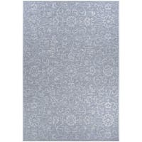 Carriage House Morning Glory/Gray-Ivory Indoor/Outdoor Area Rug - 8'6 x 13'