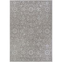 Carriage House Morning Glory/Mushroom-Ivory Indoor/Outdoor Area Rug - 8'6 x 13'