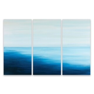 """High Tide Triptych"" Acrylic Wall Art - Set of 3, 15W x 30H x .75D each - Multi-color"