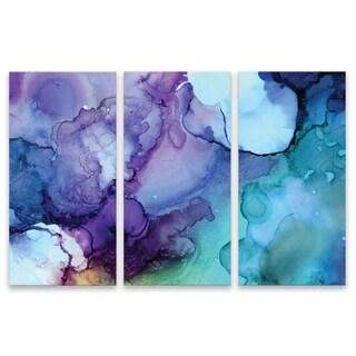 """Card"" Acrylic Wall Art - Set of 3, 15W x 30H x .75D each - Multi-color"