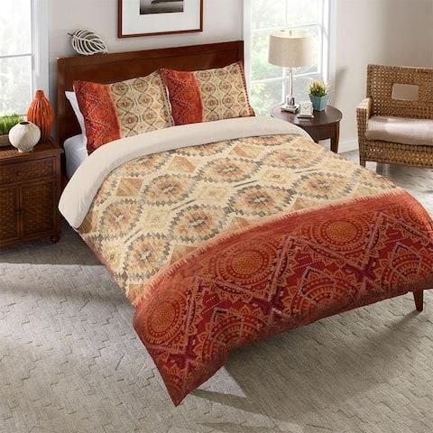 Laural Home Red Medallion Comforter