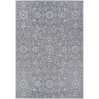 Carriage House Morning Glory/Dark Gray-Ivory Indoor/Outdoor Area Rug - 8'6 x 13'