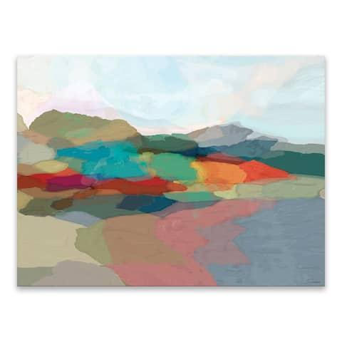 """Strata I "" Acrylic Wall Art - 40W x 30H x .75D - Multi-color"
