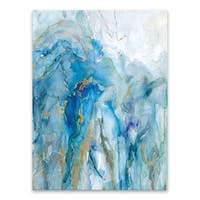 """""""Abstract Lapis """" Acrylic Wall Art - 30W x 40H x .75D - Multi-color"""