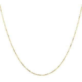 1.4MM Cable Chain Necklace in 14K Solid Gold Boxed (2 options available)