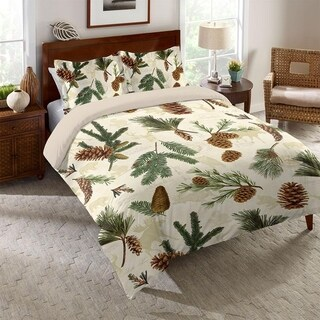 Laural Home Evergreen Pinecones Comforter