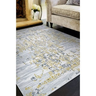 """Allure Lannister Gold/Silver Area Rug - 6'6"""" x 9'6"""""""