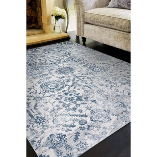 "Allure Ripon Blue/Ivory Area Rug - 5'3"" x 7'6"""