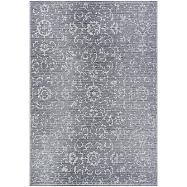Shop Carriage House Morning Glory Dark Gray Ivory Indoor