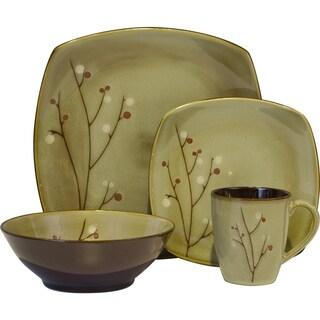 Sango Blossom Brown 16-piece Dinnerware Set