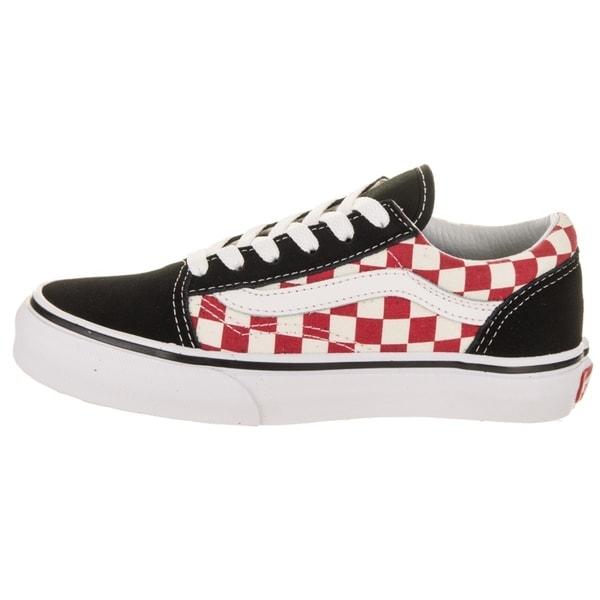 Shop Vans Kids Old Skool (Checkerboard) Skate Shoe