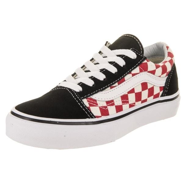 Shop Vans Kids Old Skool (Checkerboard) Skate Shoe - Free Shipping ... 0d91d799c
