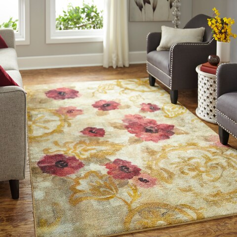 Silver Orchid Hinding Prismatic Floral Area Rug - 8' x 10'