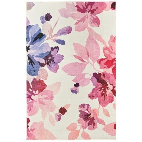 Silver Orchid Hinding Prismatic Area Rug