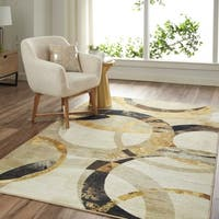 Mohawk Prismatic Mirrored Rings Grey Area Rug - 8' x 10'