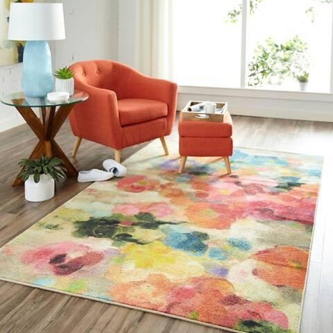 Mohawk Home Prismatic Blurred Blossoms Area Rug (8'x10') - 8' x 10'