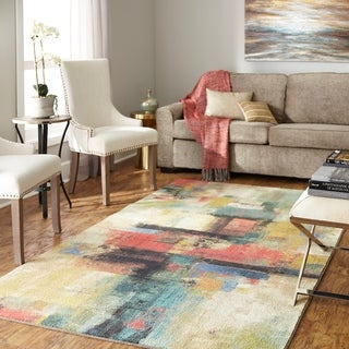 Carbon Loft Apgar Graphic Canvas Area Rug - 5' x 8'