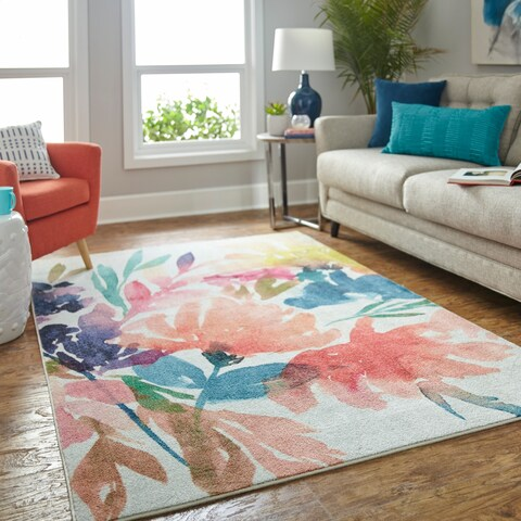 Silver Orchid Hinding Prismatic Area Rug - 5' x 8'