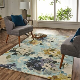 Copper Grove Maures Hydrangea Blooms Area Rug - 5' x 8'