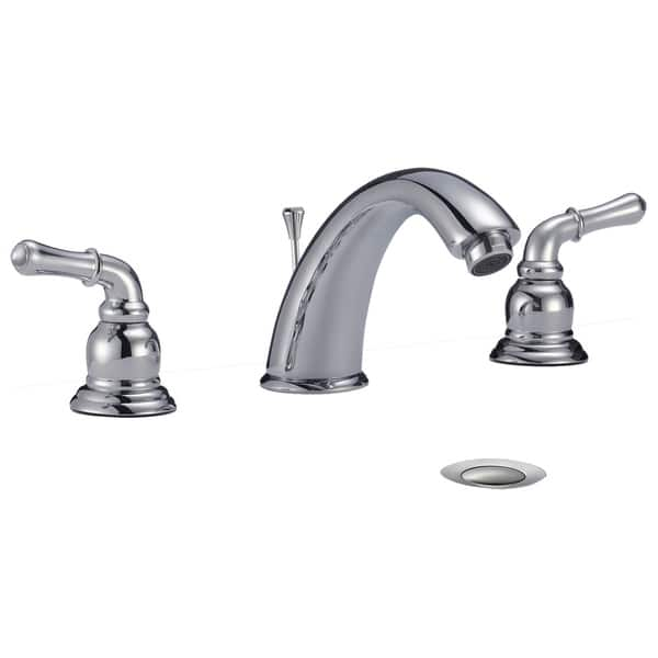 Shop Dionna Widespread 3 Hole Bathroom Sink Faucet with Lever